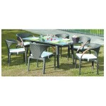 SET CAROLINA (6SILLAS+1MESA)RATTAN ALU.
